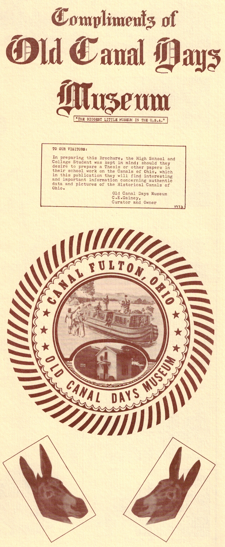 Old Canal Days brochure